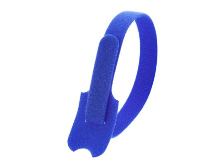 Picture of 12 Inch Blue Hook and Loop Tie Wrap - 10 Pack