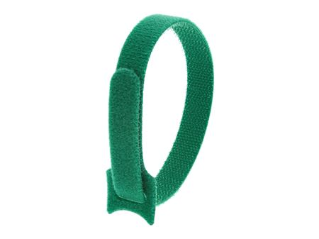 Picture of 12 Inch Green Hook and Loop Tie Wrap - 10 Pack