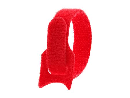 Picture of 6 Inch Red Hook and Loop Tie Wrap - 50 Pack