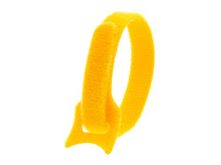Picture of 8 Inch Yellow Hook and Loop Tie Wrap - 10 Pack