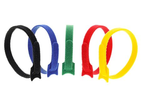 Picture of 12 Inch Multi-colored Hook and Loop Tie Wraps - 10 Pack