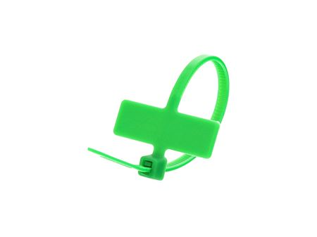 Inside Flag 4 Inch Green Miniature ID Cable Tie Loop