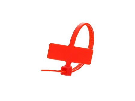 Inside Flag 4 Inch Red Miniature ID Cable Tie Loop