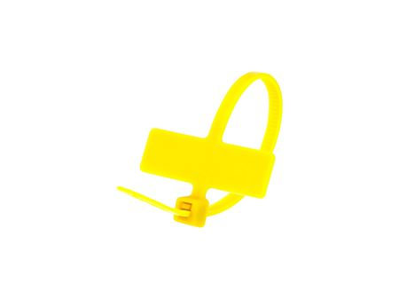 Inside Flag 4 Inch Yellow Miniature ID Cable Tie Loop
