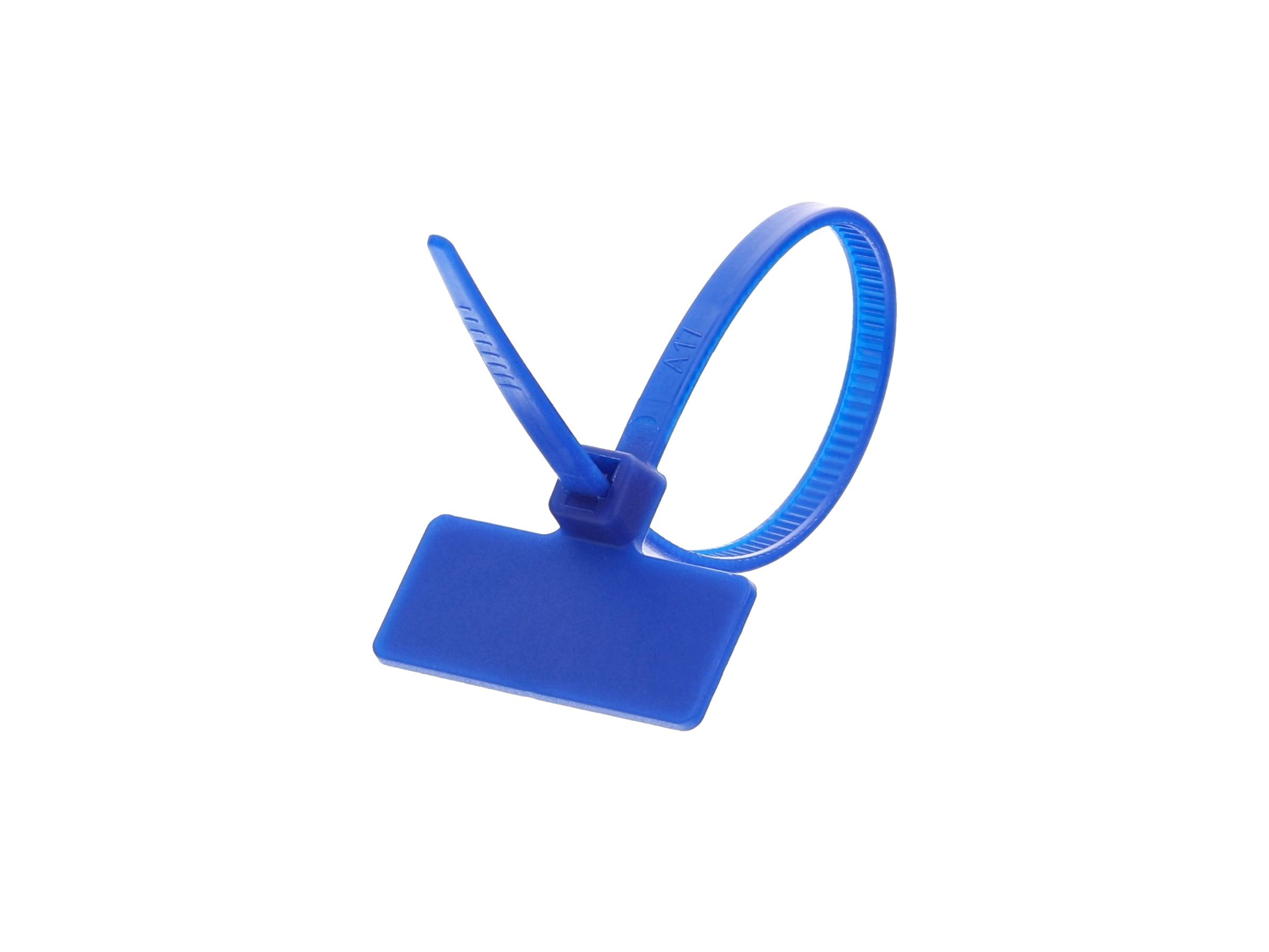 """New 8/"""" Intermediate Cable Ties Nylon Cable Tie Blue 100 Pack"""