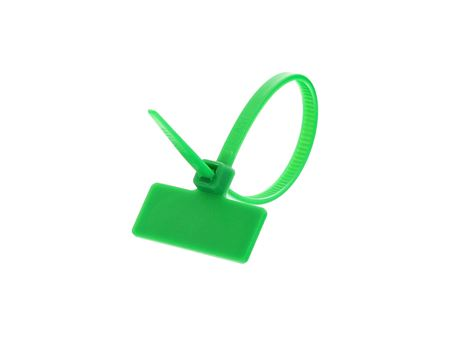 Outside Flag 4 Inch Green Miniature ID Cable Tie Loop