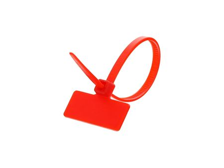 Outside Flag 4 Inch Red Miniature ID Cable Tie Loop