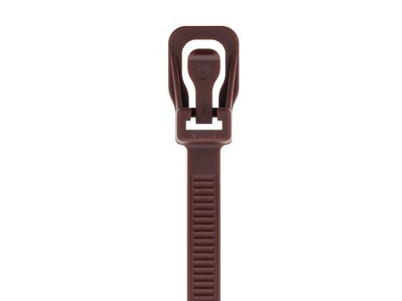 Picture of 8 Inch Brown RETYZ Releasable Standard Cable Tie - 100 Pack