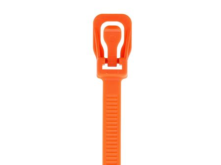 Picture of 8 Inch Orange RETYZ Releasable Standard Cable Tie - 100 Pack