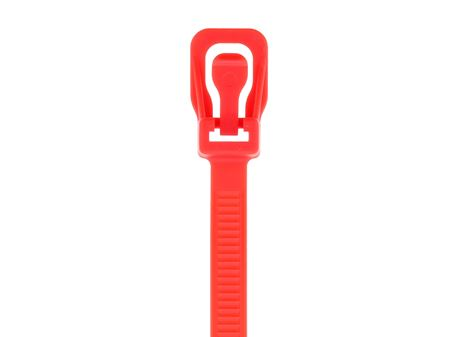 Picture of 8 Inch Red RETYZ Releasable Standard Cable Tie - 100 Pack