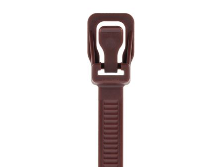 Picture of 14 Inch Brown RETYZ Releasable Heavy Duty Cable Tie - 100 Pack