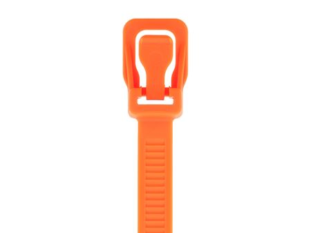 Picture of 14 Inch Fluorescent Orange RETYZ Releasable Heavy Duty Cable Tie - 100 Pack