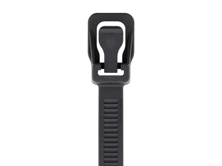 Picture of 24 Inch Black UV RETYZ Releasable Heavy Duty Cable Tie - 100 Pack