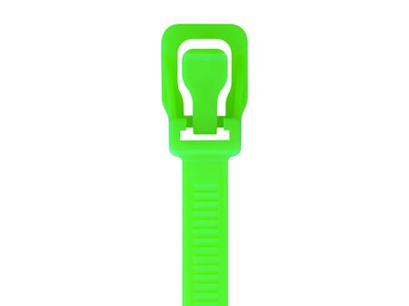 Picture of 24 Inch Fluorescent Green RETYZ Releasable Heavy Duty Cable Tie - 100 Pack